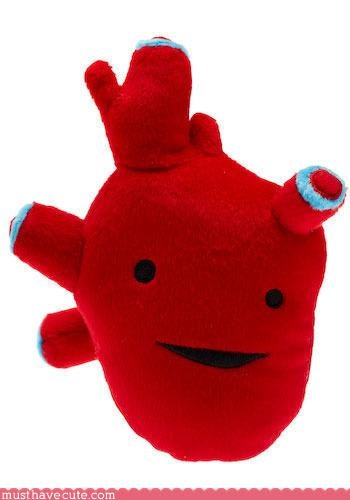 Faces On Stuff funny heart Plushie toys - 3176945152