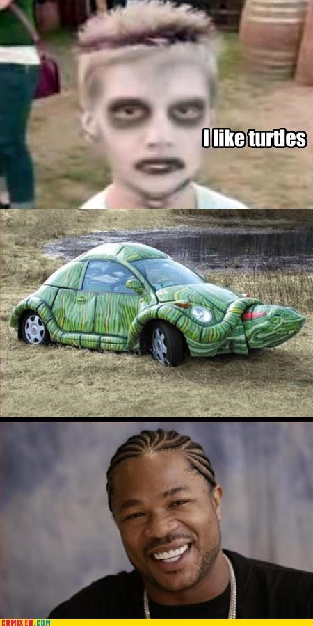 car,the internets,turtles,Xxzibit,xzhibit,zombie kid