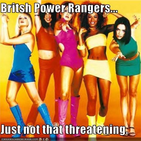 emma bunton,geri halliwell,melanie brown,melanie chisholm,Mighty Morphin Power Rangers,spice girls,Victoria Beckham