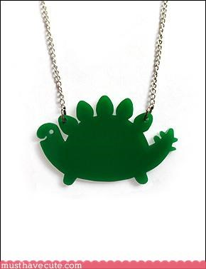 cute dinosaur hand made Jewelry necklace - 3178750720