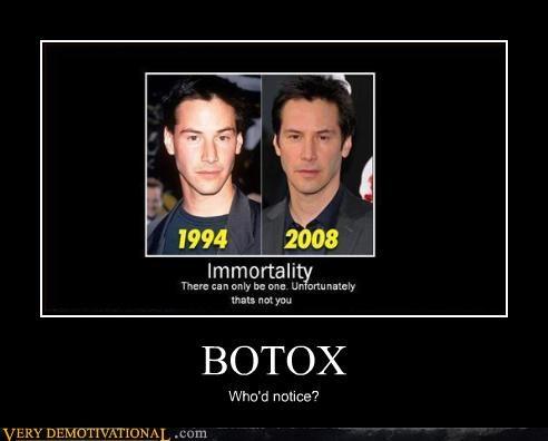 botox keanu reeves expressionless