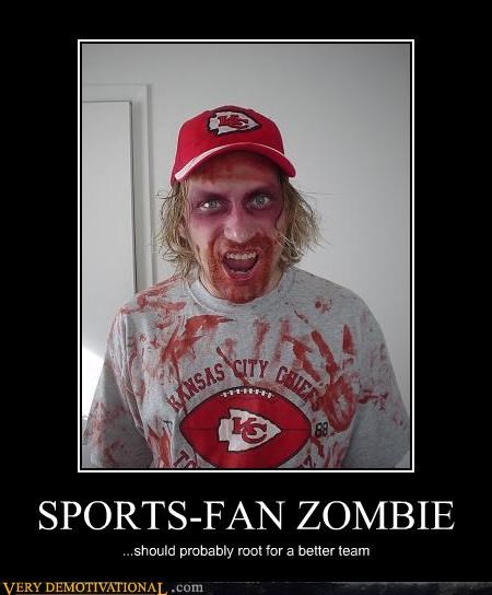 SPORTS-FAN ZOMBIE ...should probably root for a better team