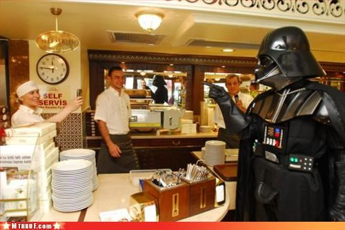 celebrity spotting coffee darth vader herp derp lattes out and about Sad sass seriously punch yourself in the face if you order coffee drinks with more than five syllables sissy vader star wars wiseass - 3180934400