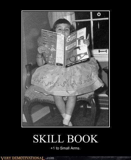 guns,skill book,wtf,kids,old timey