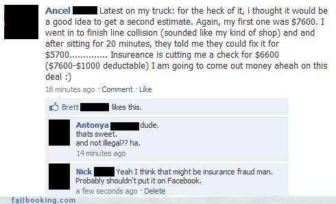 bad idea fraud insurance scams