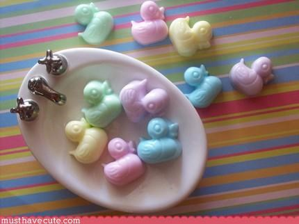 animal bathroom duck hand made soap - 3185275648