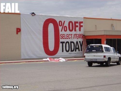 failboat percentage sale signs zero - 3185442304