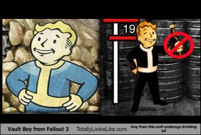 advertising drinking fallout 3 underage vault boy