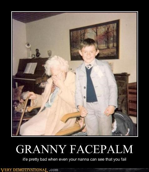 granny,kids,facepalm