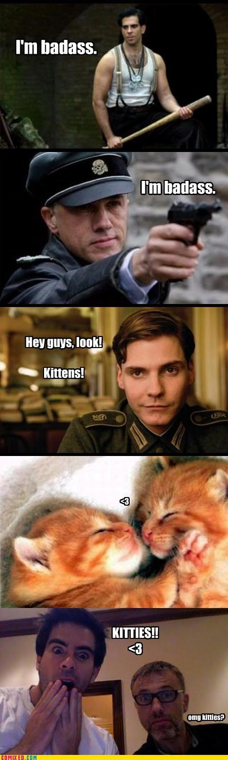 From the Movies,Inglorious Basterds,kitties,omg,the bear jew,the jew hunter