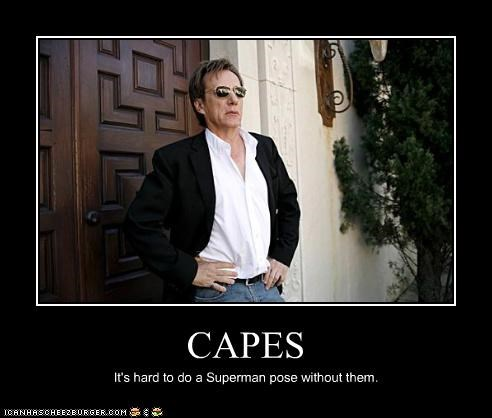 cape,james woods,posing,superman