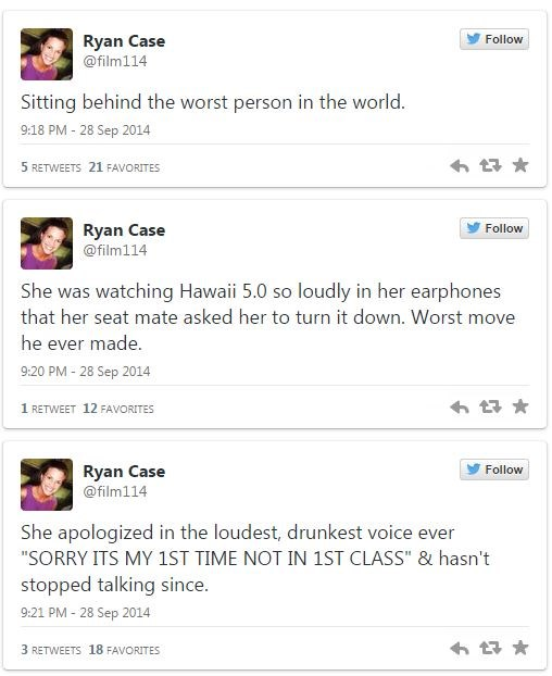 "A ""Modern Family"" Editor Live-Tweets the Worst Plane Passenger Ever"