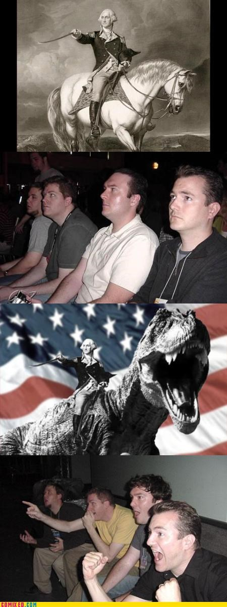 america,FUCK YEAH,reaction guys,the internets,t rex,washington