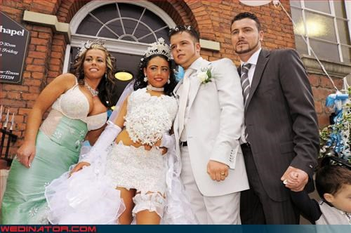 Bling,bra on the outside,chinstrap beard,Crazy Brides,fashion is my passion,Garter,goatee,groom,lace,New Jersey,tacky,technical difficulties,tiara,were-in-love,wedding party,Wedding Themes