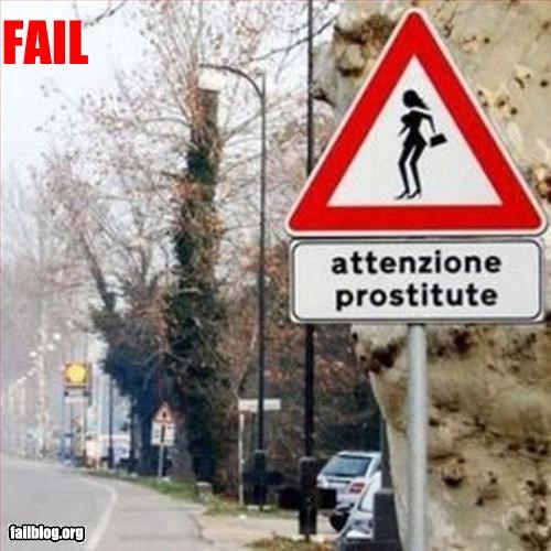 attention Italy prostitute signs warning - 3194092544