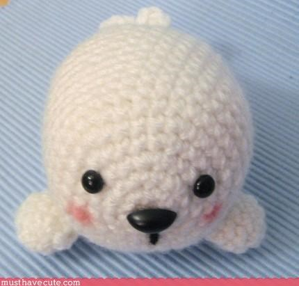 animal hand made Plushie toys white - 3194548480