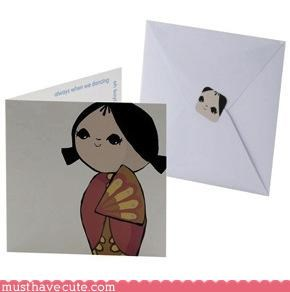 geisha pretty shy stationary sweet - 3194639872