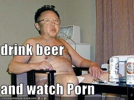 drink beer and watch Porn