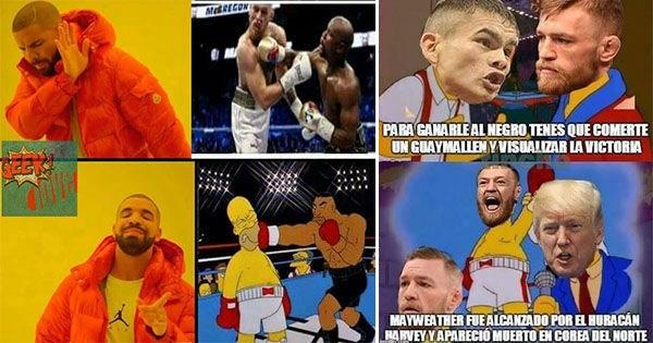 galeria memes Mayweather contra McGregor