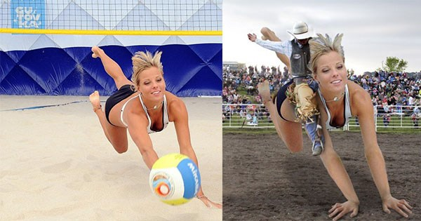 photoshop chica volleyball