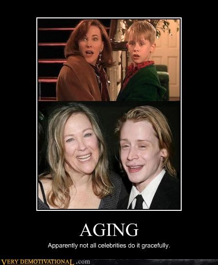 AGING Apparently not all celebrities do it gracefully.