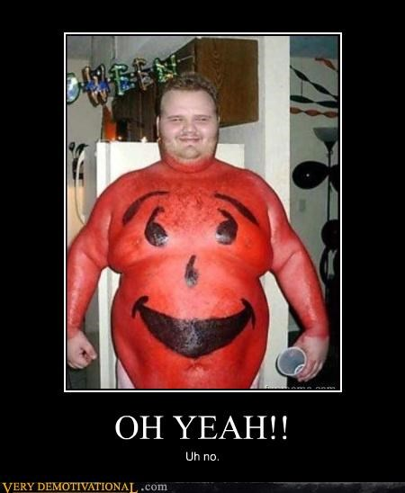 wtf kool-aid man body paint - 3198890496