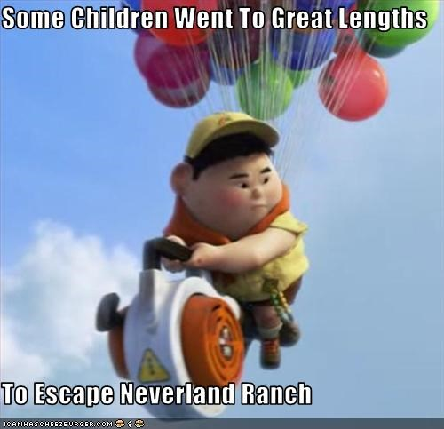 animation,michael jackson,Neverland,pixar,russell from UP,up