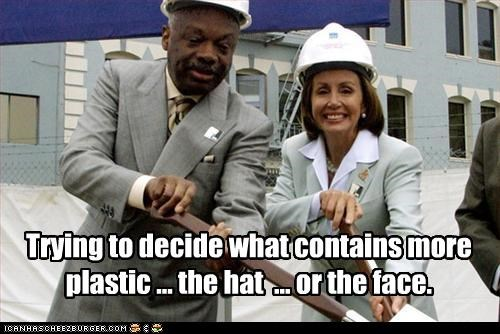 construction,democrats,Nancy Pelosi,plastic surgery