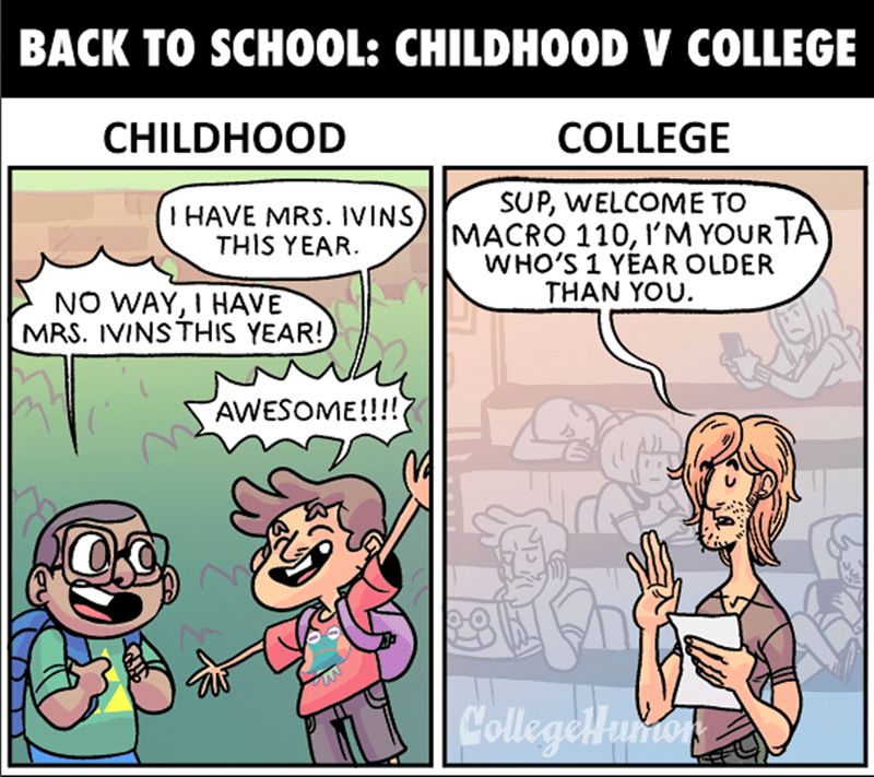 a funny comic about college
