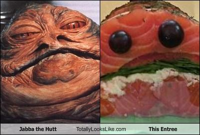 food,jabba the hutt,meal,salmon