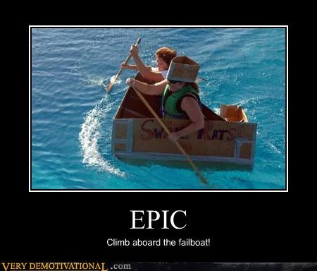 cardboard epic failboat hilarious idiots