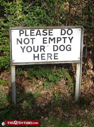 do not dogs empty g rated please signs