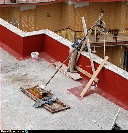 apartment cobbled together garden make do - 3203257088