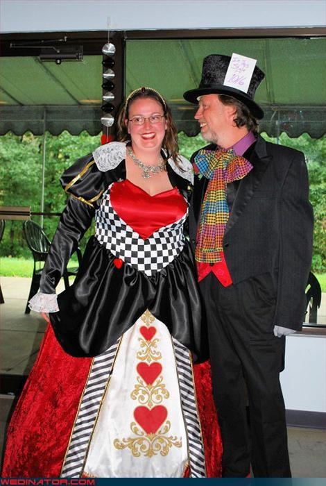 alice in wonderland costume Crazy Brides fashion is my passion groom mad hatter tacky tim burton were-in-love Wedding Dress Costume Wedding Themes wtf - 3204588288