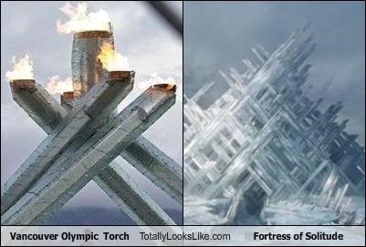 fortress of solitude,olympic torch,superman,vancouver