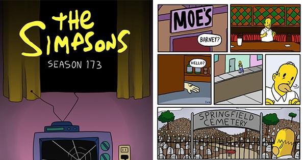 vineta de los simpsons perturbadora