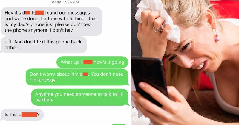 cheater texts the wrong number