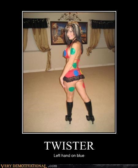 babes demotivational games Pure Awesome twister - 3206540288