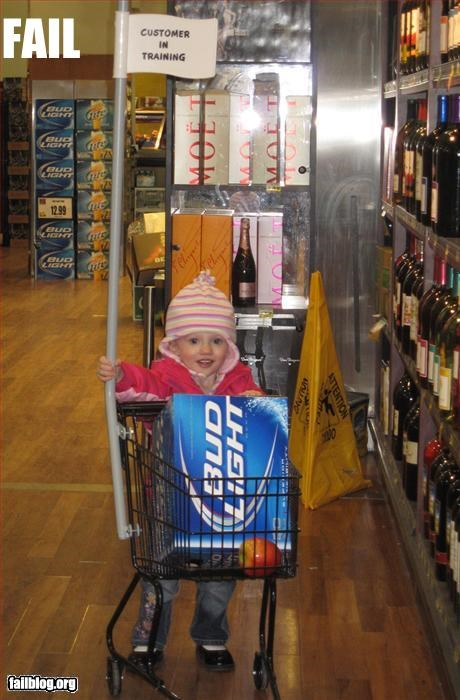 Parenting Fail Teaching her to shop seemed like such a good idea at the time...