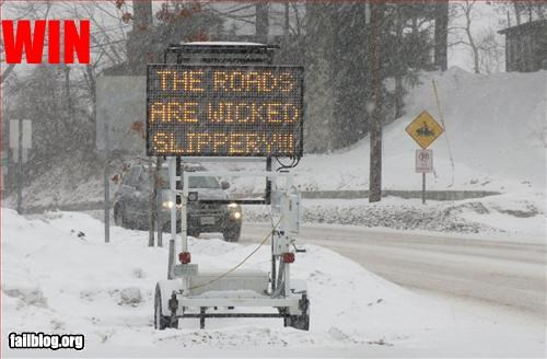 g rated new england road sign slippery wicked - 3207729920