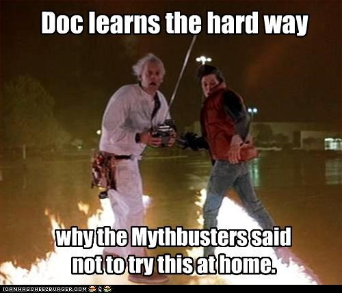 back to the future,christopher lloyd,michael j fox,mythbusters