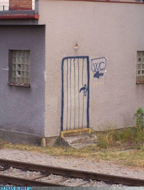 door,wall