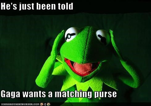 kermit the frog lady gaga purse the muppets - 3208570880