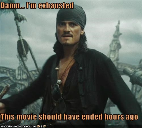 long,movies,orlando bloom,Pirates of the Caribbean,tired
