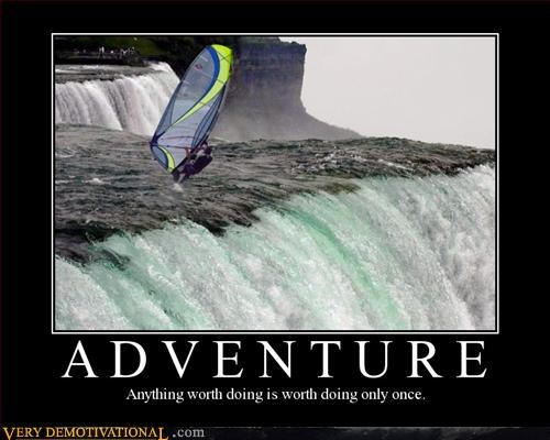 bad idea,water fall,adventure