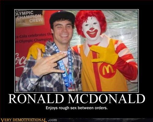 Ronald McDonald,wtf,shocker,sexy times