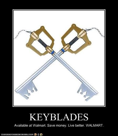 KEYBLADES Available at Walmart. Save money. Live better. WALMART.