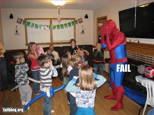 children,erection,Party,Spider-Man