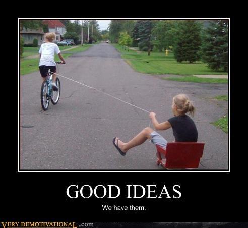 bicycle bad ideas good ideas idiots - 3214499584