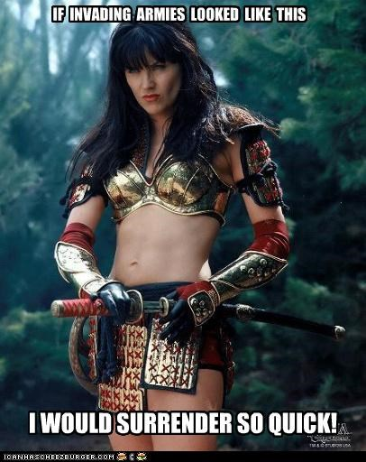 Lucy Lawless tough TV Xena
